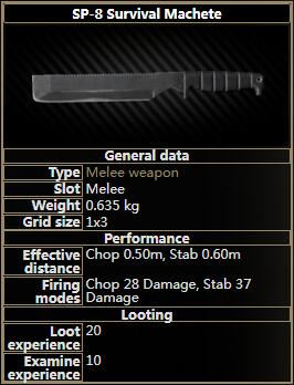 SP-8 Survival Machete
